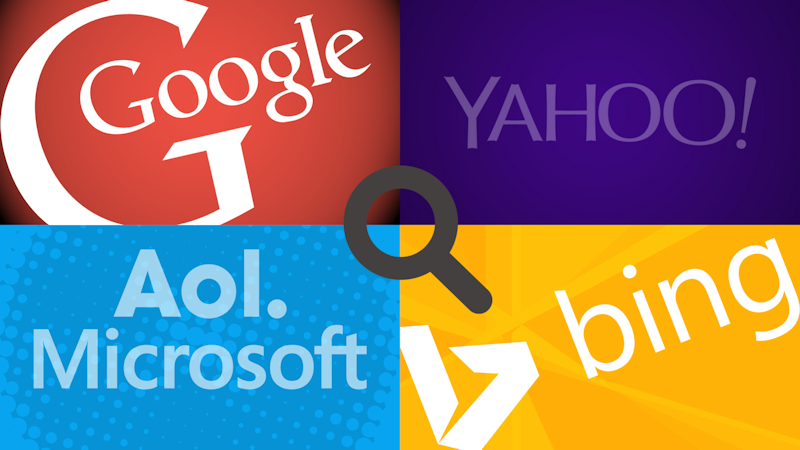 search google yahoo aol. microsoft bing